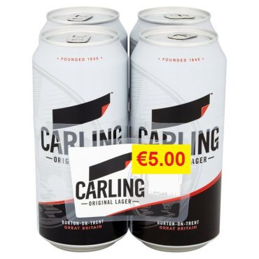 Carling 500ml 4pk FL €5.00