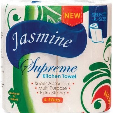 Jasmine Supreme Kitchen Roll 4pk