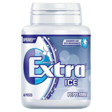Extra Bottle Ice Blue Peppermint 46's