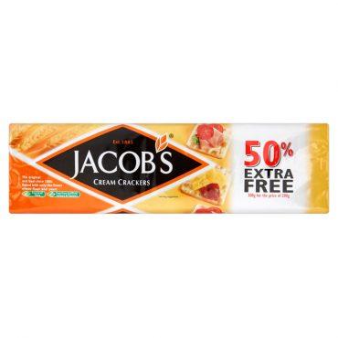 Jacob's Cream Crackers 200g + 50% Free