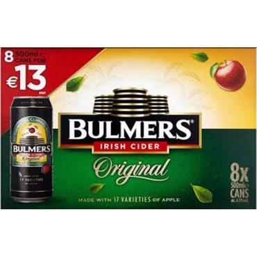 Bulmers 500ml 8pk FL 13.00 Cans
