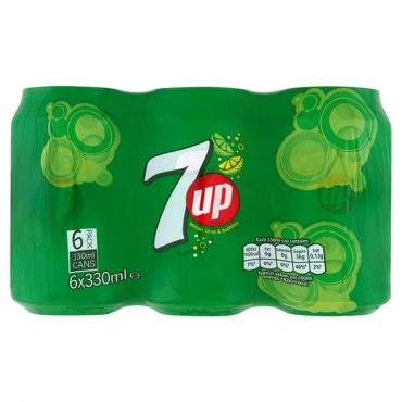 7up Cans 330ml 6pk
