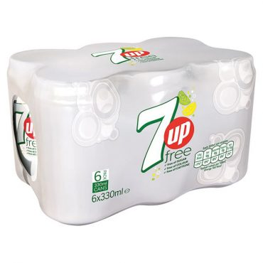 7up Free Cans 330ml 6pk