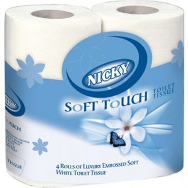 Nicky Toilet Roll 4pk