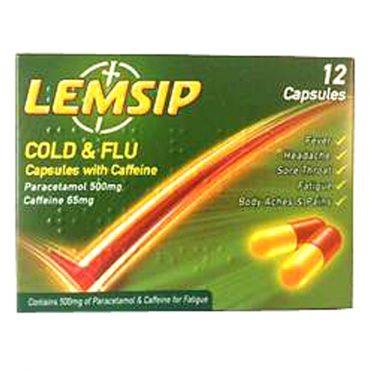 Lemsip Cold & Flu Capsules 12's