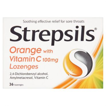 Strepsils Orange Vitamin C 24's