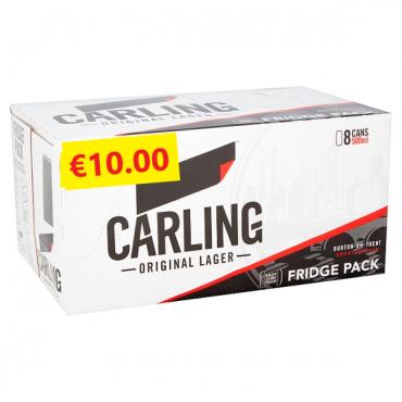 Carling 500ml 8pk FL €10.00
