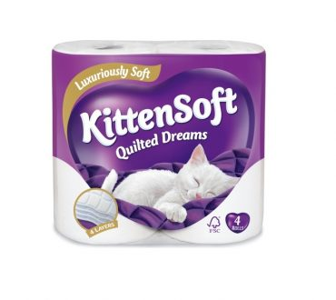 Kittensoft Quilted Dreams 4pk