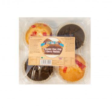 Baker Boys Muffins 4pk Double Choc Chip/Cherry