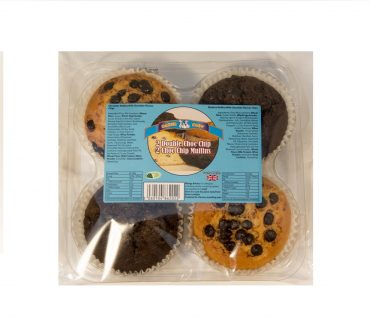 Baker Boys Muffins 4pk Choc Chip/Double Choc Chip