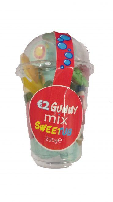 €2 Gummy Mix Sweet Tub 200g