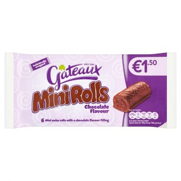 Gateaux Mini Rolls Chocolate 6′ FL €1.50