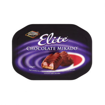 Jacob's Elite Chocolate Mikado 660g Tin PK6