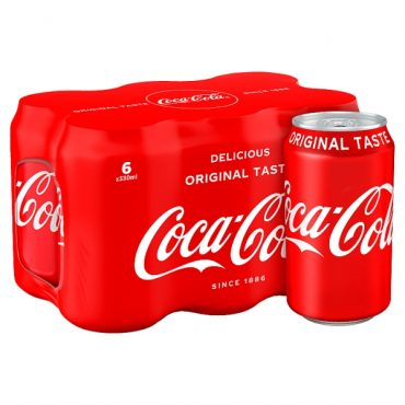 Coke Cans 6pk PK4